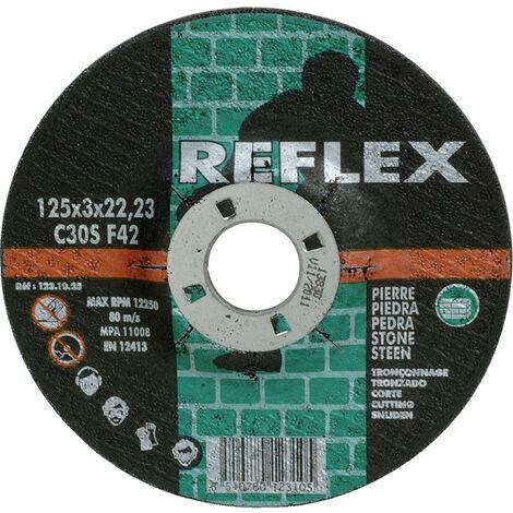 Disque bakélite matériaux - Diametre : 125 - Epaisseur : 3,0 - Forme : déporté - REFLEX