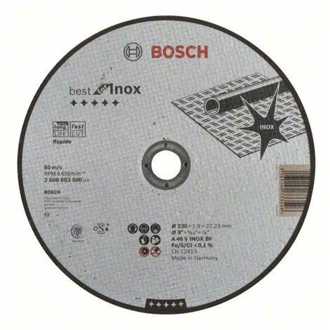 Disque BEST à tronçonner BOSCH à moyeu plat Spécial inox 230X1.9 MM - 2608603500