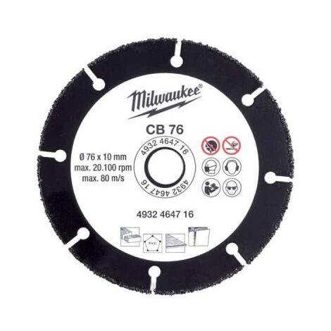 Disque carbure MILWAUKEE 76mm - 4932464716