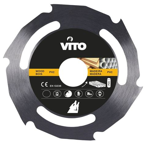 Disque coupe bois et PVC pour Meuleuse 115mm Alesage 22.5mm Haute résistance