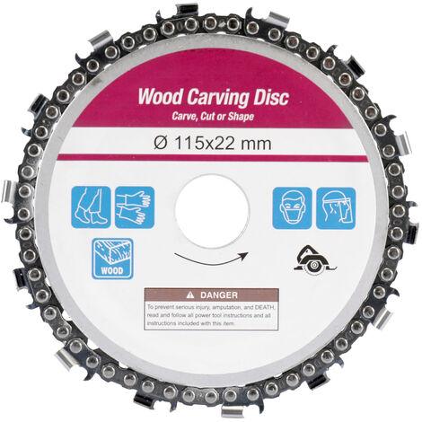 """Disque de chaine de 4-1 / 2 pouces a 13 dents 115 * 22mm disque de scie a chaine pour le travail du bois pour meuleuse d'angle de 4-1 / 2 """"jaune"""