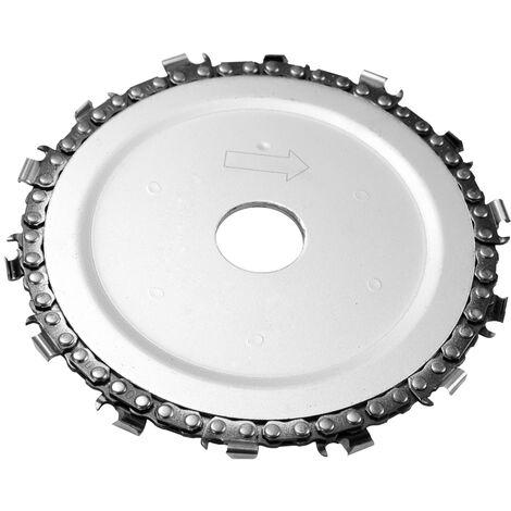 Disque de chaine de 5 pouces 14 dents 125 * 22mm disque de scie a chaine pour le bois pour scie a disque de 125mm et meuleuse d'angle