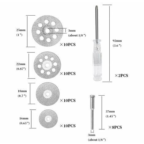 Disque de coupe en metal pour meuleuse a outils rotatifs Dremel 50x diamant