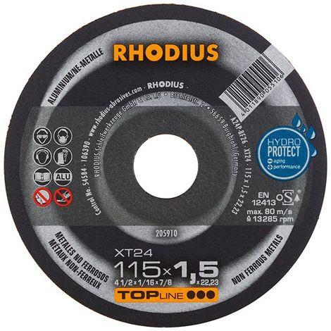 Disque de coupe XT24 115 x 1,5mm Rhodius(Par 50)