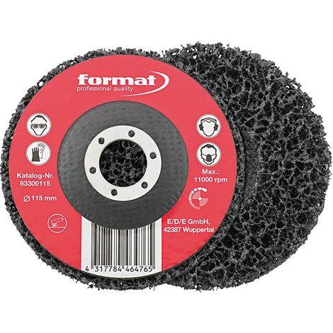 Disque de décapage avec disque 115mm FORMAT
