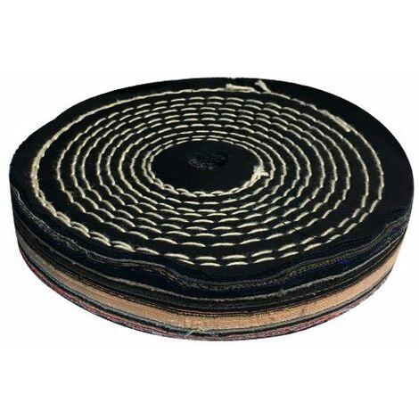 Disque de polissage en coton cousu D. 150 x 25 x Al. 16 mm - DSM150PSL - Holzmann