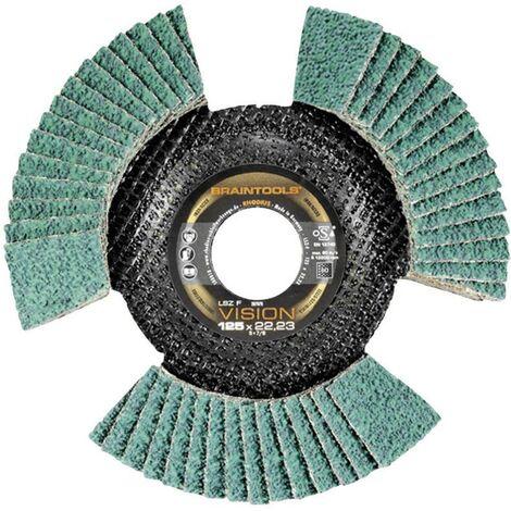 Disque de ponçage 125 mm grain 80 Rhodius LSZ F VISION