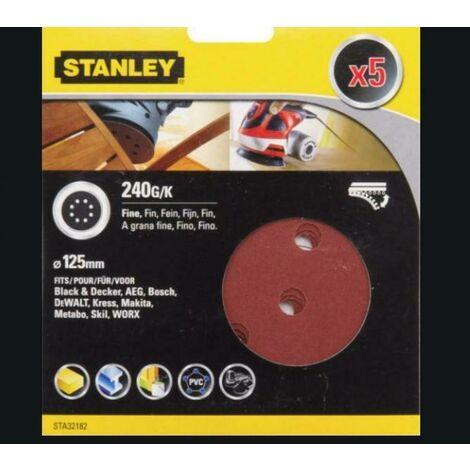 Disque de ponçage Stanley - 125mm k240