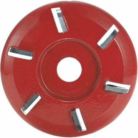 Disque de sculpture sur bois , six dents, outil de chaîne, outil de coupe, outil de coupe, outil de fraisage pour meuleuse d'angle d'ouverture (rouge)