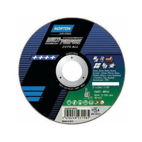 Disque de tronconnage Norton 'multi applications ' Ø 230 pour meuleuse d'angle- 66252918925 - -