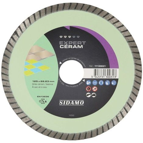Disque diamant 125 mm - JC cannelée - Spécial Grès Cérame , Sidamo - EXPERT CERAM - 11102505