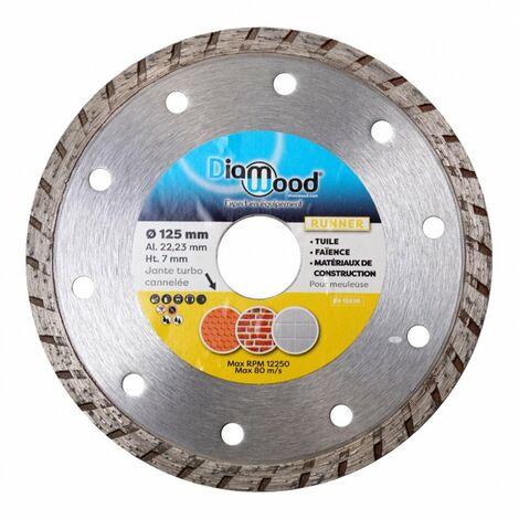 Disque diamant 125 x Al. 22,23 x Ht. 7 mm tuile, matériaux de construction, faïence - RUNNER - Diamwood