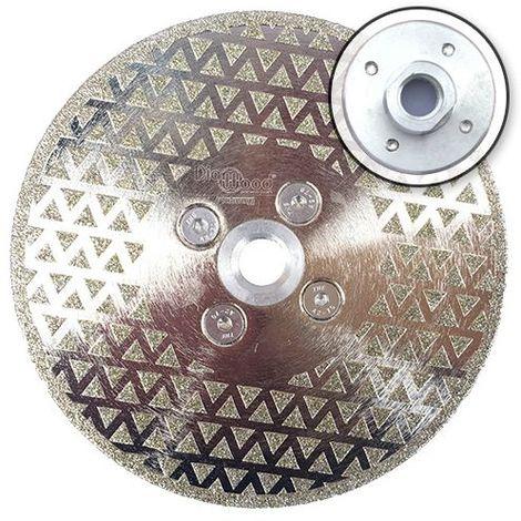 Disque diamant à couper et poncer pro DARK KNIGHT D. 125 x M14 x Ht. 3 mm - marbre, PVC, tuile - Diamwood Platinum - -