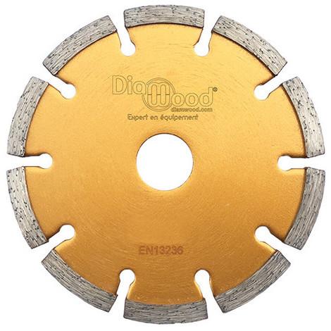 Disque diamant à déjointoyer D. 115 x Al. 22,23 x Ht. 7 x ép. 6,4 mm - béton, matériaux de construction - Diamwood