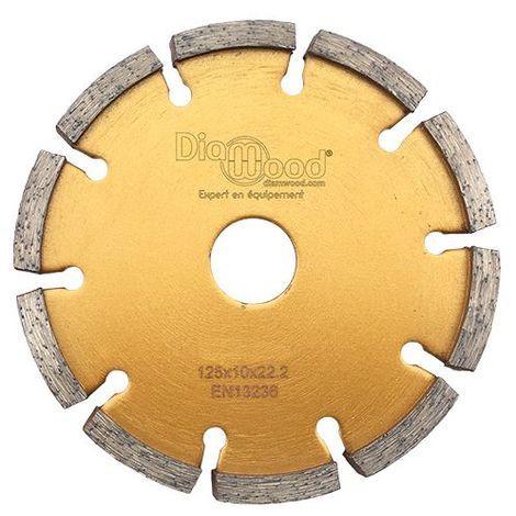 Disque diamant à déjointoyer D. 125 x Al. 22,23 x Ht. 7 x ép. 10 mm - béton, matériaux de construction - Diamwood - -