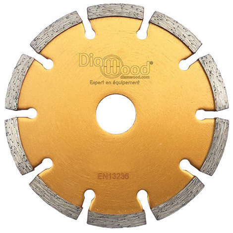 Disque diamant à déjointoyer D. 125 x Al. 22,23 x Ht. 7 x ép. 8 mm - béton, matériaux de construction - Diamwood - -