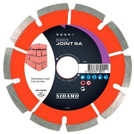 Disque diamant à déjointoyer PRO JOINT SA D. 125 x Ep. 6,4 x 22,23 x H 7 mm Joint de brique - 11130111 - Sidamo
