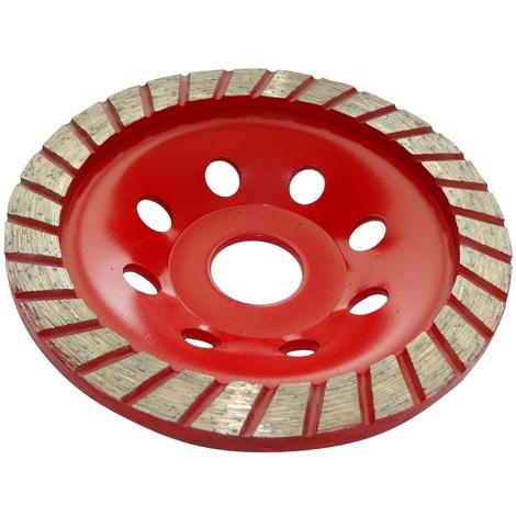 Disque diamant à poncer 115mm 22.23mm assiette pour meuleuse béton pierre brique surfaçage façonnage