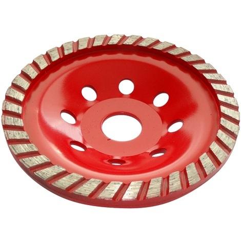 Disque diamant à poncer 125mm 22.23mm assiette pour meuleuse béton pierre brique surfaçage façonnage
