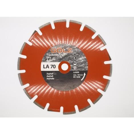 Disque diamant Asphalt Standard D300 - Alésage 22.2 mm - Golz - LA70 | 300 mm - 22,23 mm