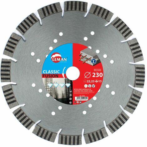 disque diamant beton acier 230x2.7x7x22.2 mm -- gamme pro