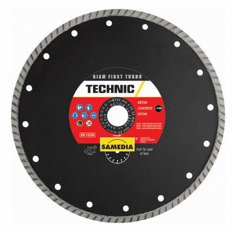 Disque diamant béton Technic Diam First Turbo - plusieurs modèles disponibles
