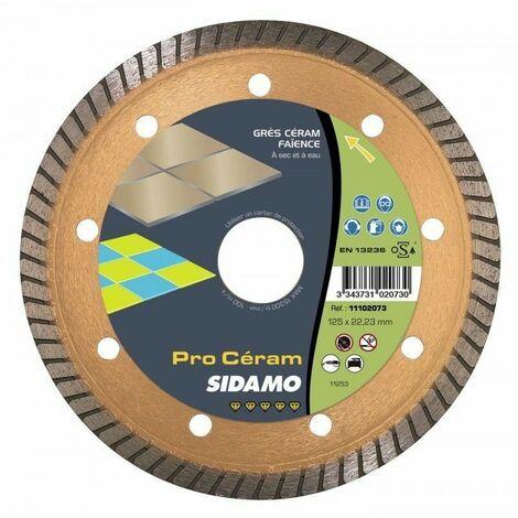 Disque diamant Ceramique Carrelage Pierre - Sidamo PRO CERAM 125 mm 11102073