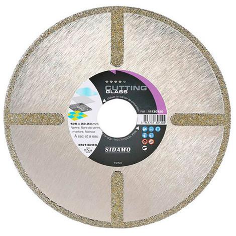 Disque diamant CUTTING GLASS D. 125 x 22,23 x H 4 mm Verre / Fibre de verre - 11130120 - Sidamo - -