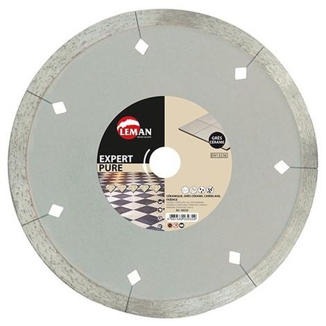 Disque diamant D. 200 x Al. 30/25,4/22,23 x Ht. 10 x ép. 1,8 mm. Carrelage, faience - 960200 - LEMAN