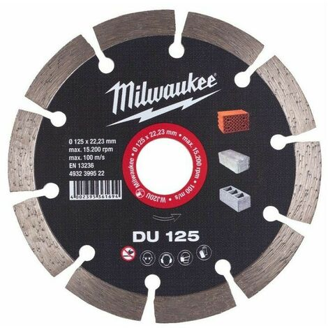 Disque diamant DU 125mm Milwaukee