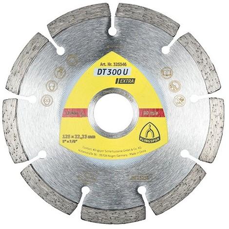 Disque diamant EXTRA DT 300 U D. 180 x 2 x Ht. 7 x 22,23 mm - Béton / Matériaux - 325347 - Klingspor