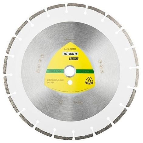Disque diamant EXTRA DT 300 U D. 300 x 2,8 x Ht. 7 x 25,4 mm - Matériaux - 325349 - Klingspor