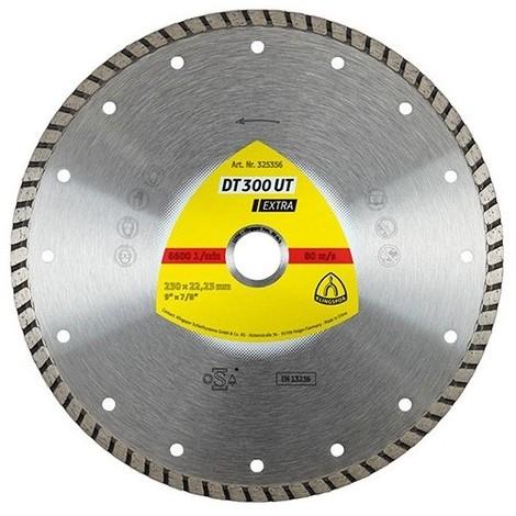 Disque diamant EXTRA DT 300 UT D. 115 x 1,9 x Ht. 7 x 22,23 mm - Béton / Matériaux - 325353 - Klingspor