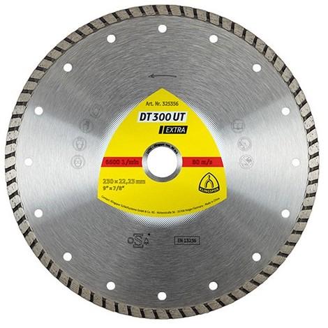 Disque diamant EXTRA DT 300 UT D. 125 x 1,9 x Ht. 7 x 22,23 mm - Béton / Matériaux - 325354 - Klingspor
