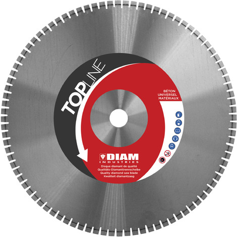 DISQUE DIAMANT LASER SCIE MURALE Ø 900/60 H 12 mm