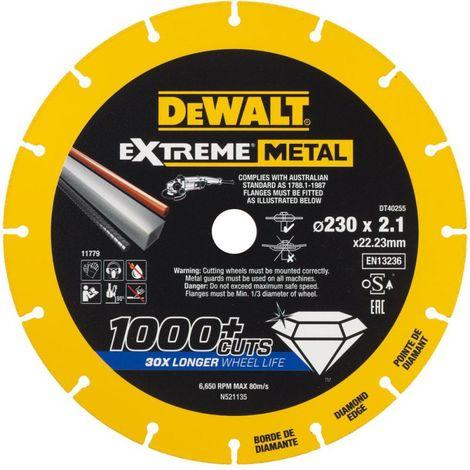 Disque diamant METALMAX Extreme Metal 125 mm DEWALT DT40252