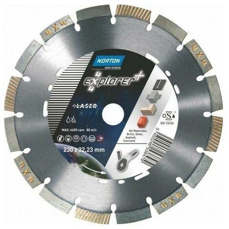 Disque diamant Norton 4x4 Explorer + multi usage ø 230 mm alésage 22.23