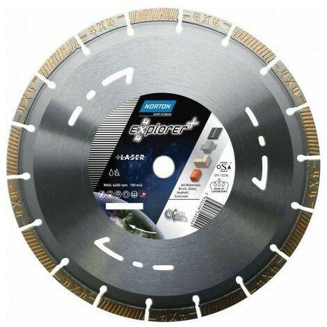 Disque diamant Norton 4x4 Explorer + multi usage ø 350 mm alésage 25.4