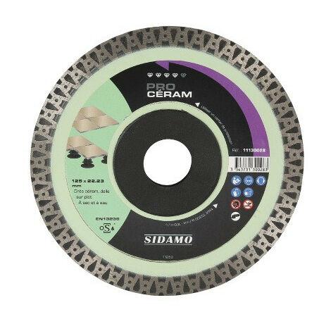 Disque diamant PRO CÉRAM D. 115 x 22,23 x H 10 mm Grès céram / dalle - 11130027 - Sidamo