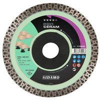 Disque diamant PRO CÉRAM D. 125 x 22,23 x H 10 mm Grès céram / dalle - 11130028 - Sidamo - -