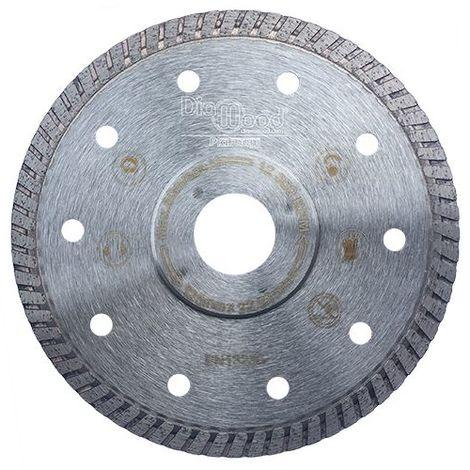 Disque diamant pro SHURIKEN D. 125 x Al. 22,23 x Ht. 7 x ép. 1,4 mm - grès cérame, granite, marbre - Diamwood Platinum - -