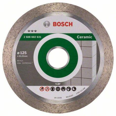 Disque diamant spécial céramique pour meuleuses ø125mm alésage 22,23mm Best for Ceramic BOSCH 2608602631