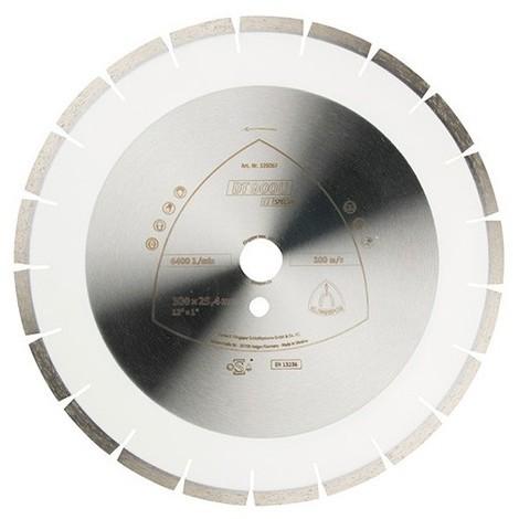 Disque diamant SPECIAL DT 900 U D. 350 x 3 x Ht. 10 x 30 mm - Béton armé / Béton / Matériaux / Granit - 325084 - Klingspor