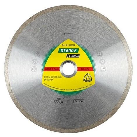 Disque diamant SUPRA DT 600 F D. 100 x 1,6 x Ht.7 x 22,23 mm - Grès cérame / Faïence / Carrelage - 330624 - Klingspor