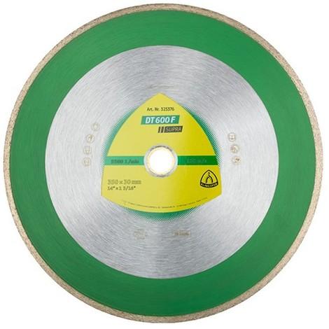 Disque diamant SUPRA DT 600 F D. 300 x 2 x Ht. 7 x 30 mm - Grès cérame / Faïence / Carrelage - 325375 - Klingspor