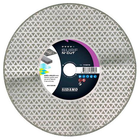 Disque diamant SURF N' CUT D. 230 x 22,23 x H 3 mm Marbre / granit - 11130118 - Sidamo