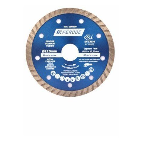 Disque Diamant Turbo 115 x 22.2mm FEROCE