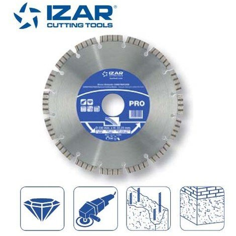 disque diamant turbo Izar pour béton de 230 mm