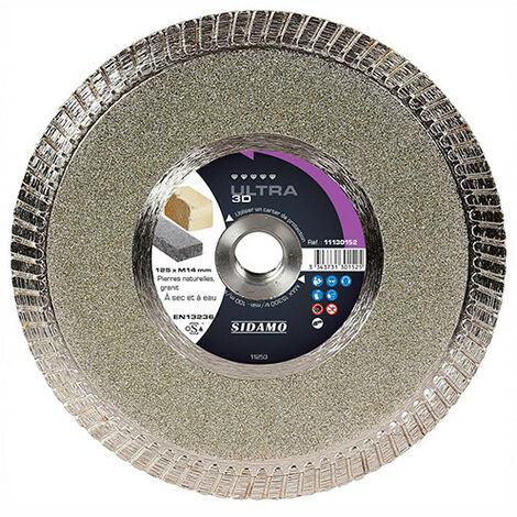 Disque diamant ULTRA 3D - D.125 x M14 x Ht. 8 mm - Pierre naturelle - Granit