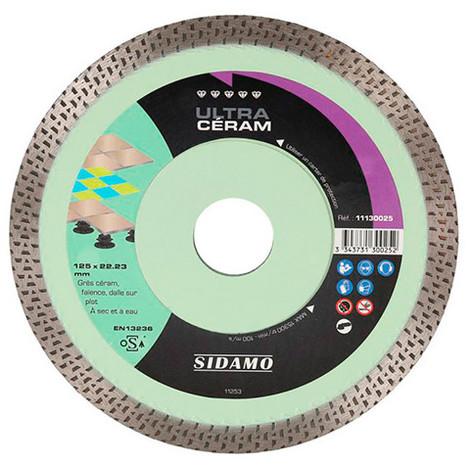 "main image of ""Disque diamant ULTRA CÉRAM D. 125 x 22,23 x H 10 mm Grès céram / faïence - 11130025 - Sidamo"""